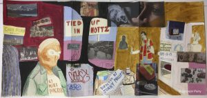 A moodboard for the 'Nottz' title sequence. Copyright Grayson Perry.