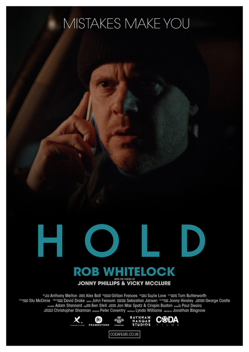 HOLD movie poster. HOLD is a short film thriller, directed by Jonathan Blagrove.