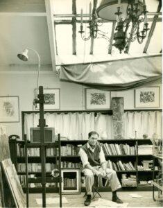 Alfred Cohen pictured in Arago Studio.