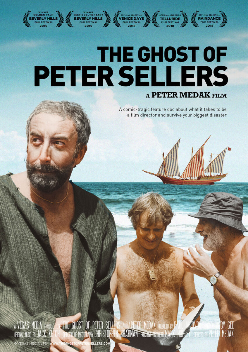 Promotional poster for 'The Ghost of Peter Sellers' documentary film by Peter Medak.