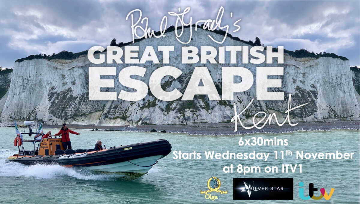 Promotional poster for Paul O'Grady's Great British Escape: Kent